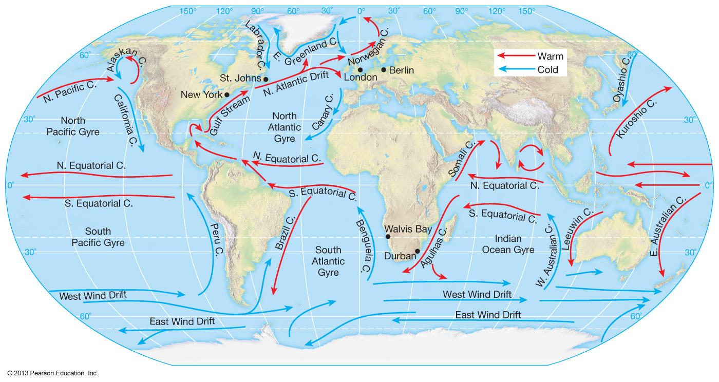 Okyanus Akıntıları Haritası